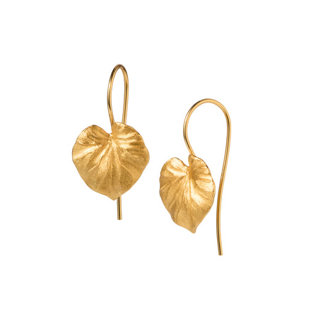 Gold Tropical Leaf Earrings