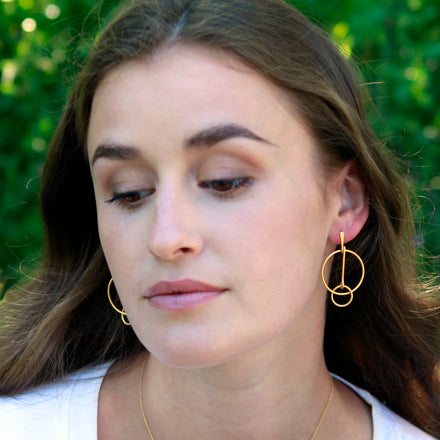Connect the Hoops Gold Earrings
