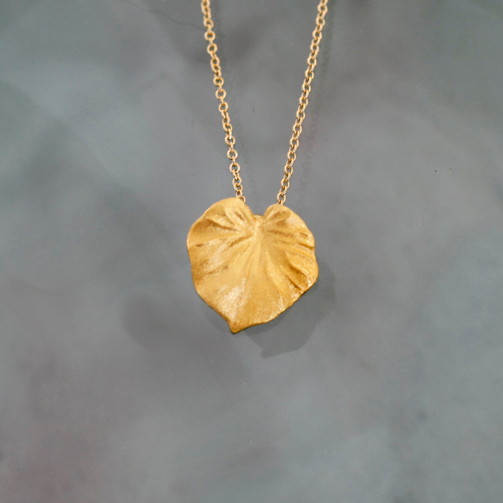 Gold Tropical Leaf Pendant