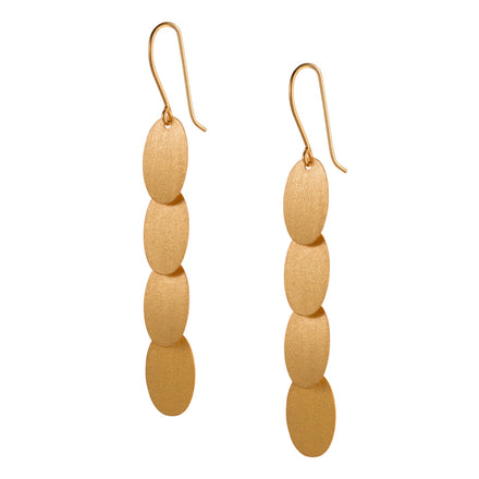 Long Gold Dangle Earrings