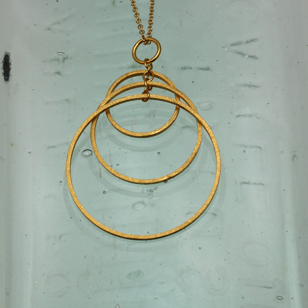 Three Hoop Gold Pendant