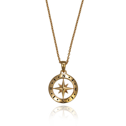 Love's Compass Gold Necklace