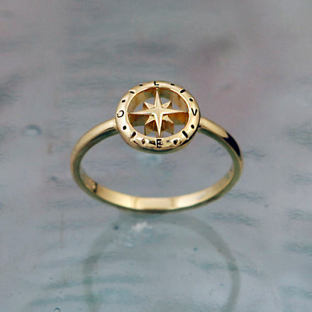 Love's Compass Gold Ring