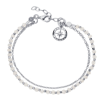 Love's Compass Silver & Moonstone Friendship Bracelet
