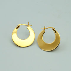Small Polished Gold Plated Silver Hoop Earrings