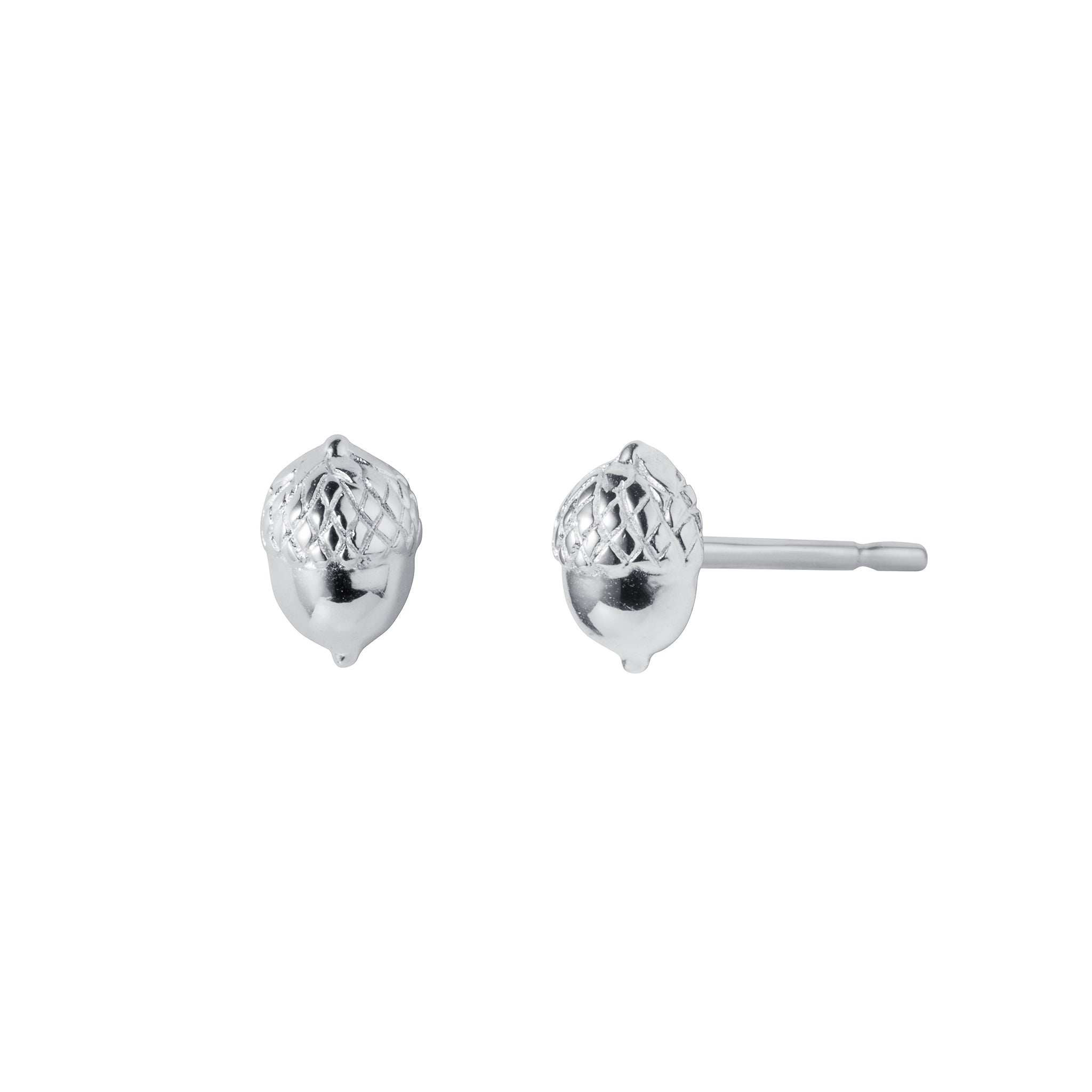 Silver Acorn Stud Earrings