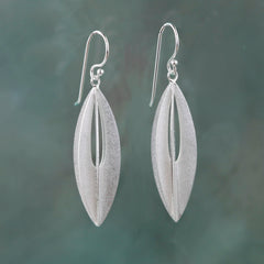 Elliptic Silver Earrings