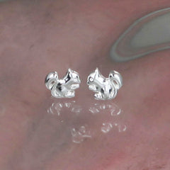 Silver squirrel Stud Earring