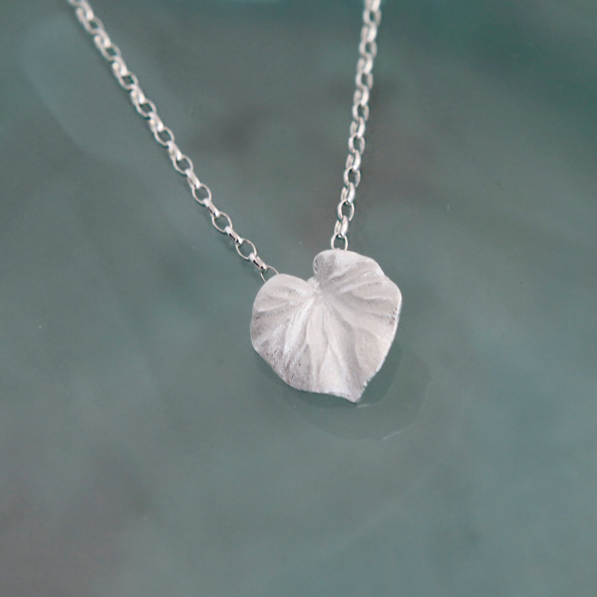 Silver Tropical Leaf Pendant