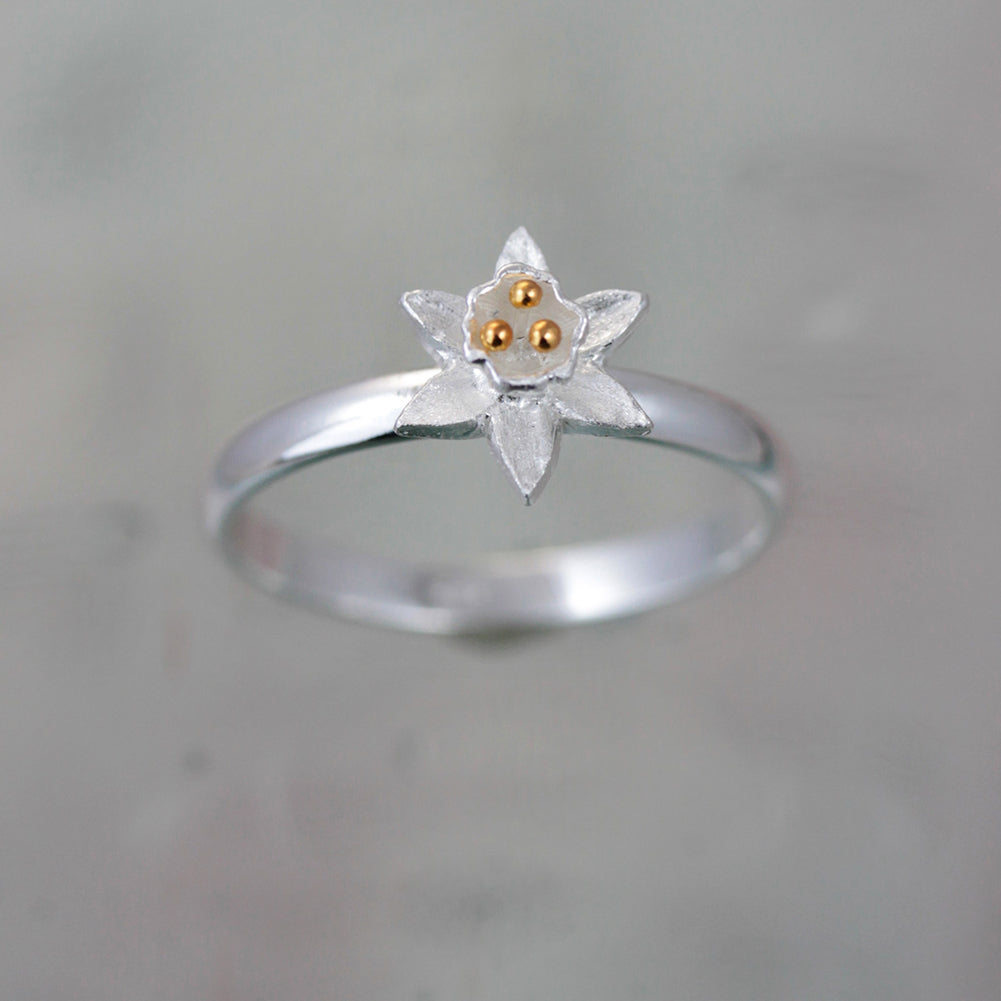 Daffodil Silver & Gold Ring