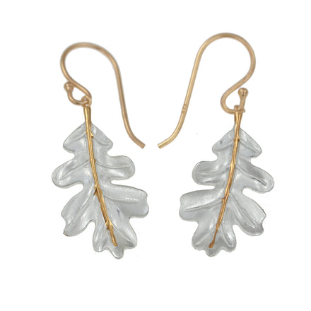 Oak Leaf Silver & Gold Earrings