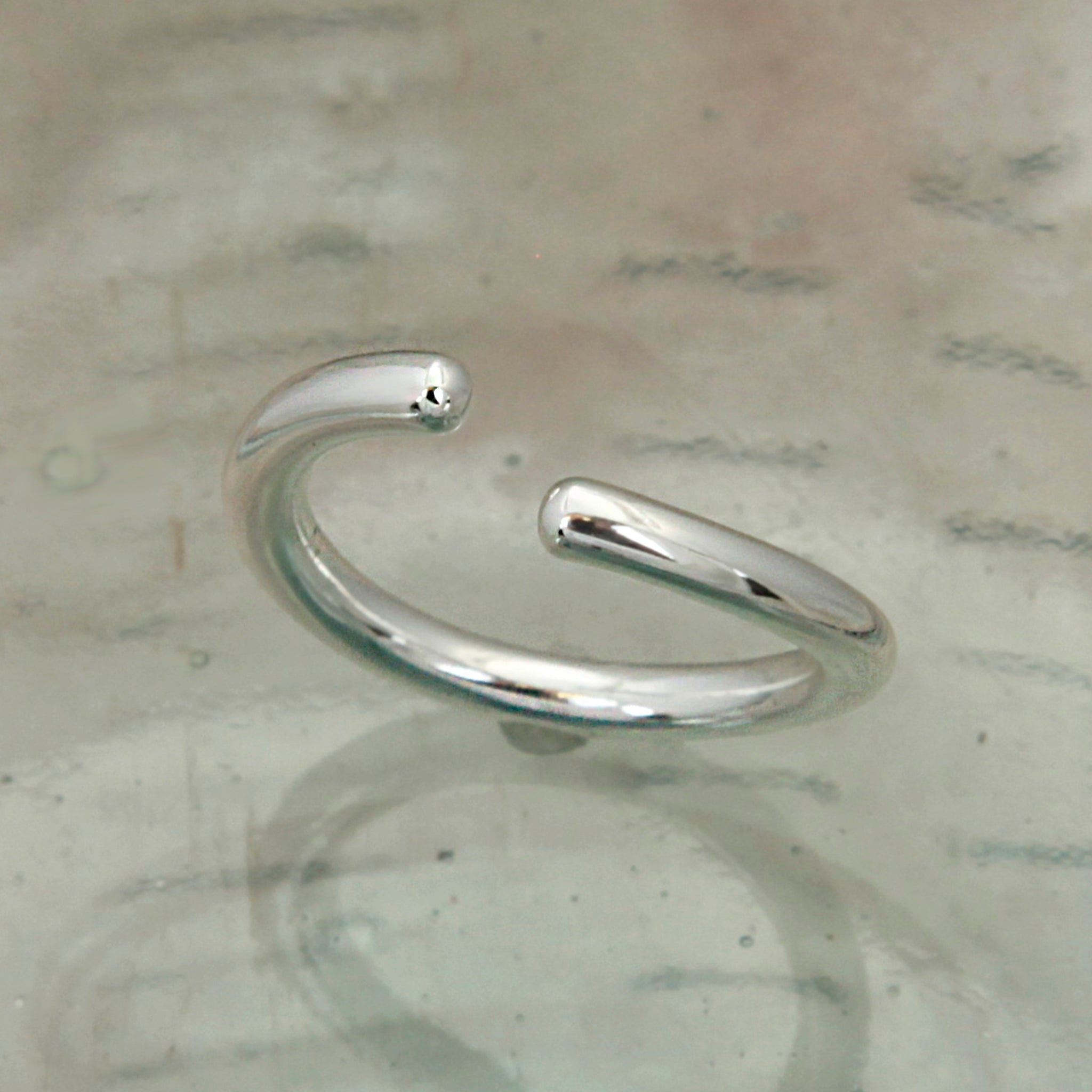 Open Band Silver Ring