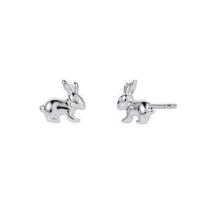 Bunny Rabbit Silver Stud Earrings