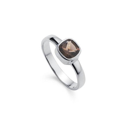 Silver Ring With Smoky Quartz