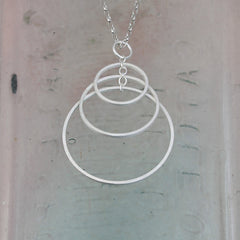 Three Hoop Silver Pendant