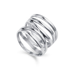 High Wrap Silver Ring