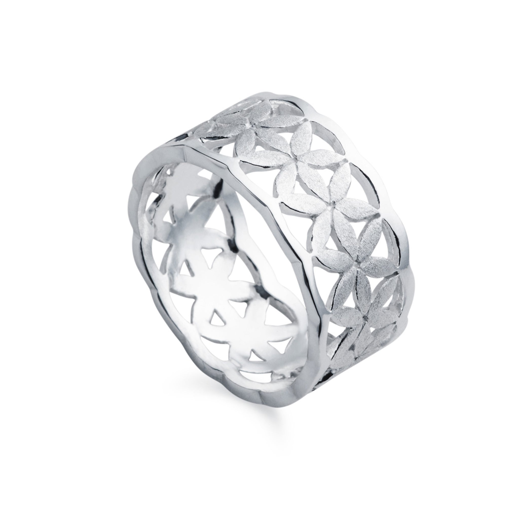 Daisy Chain Silver Flower Ring