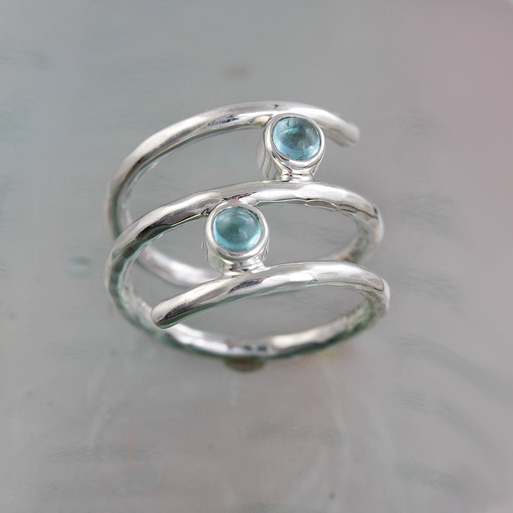 Wrap-Around Apatite Silver Ring