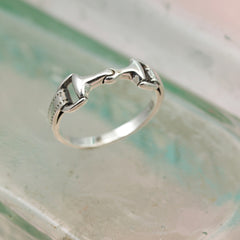 Snaffle Bit Silver Ring