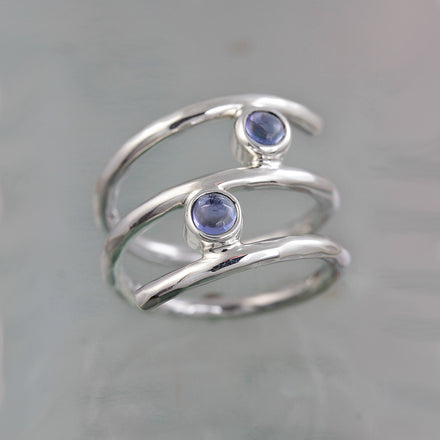 Wrap-Around Tanzanite Silver Ring