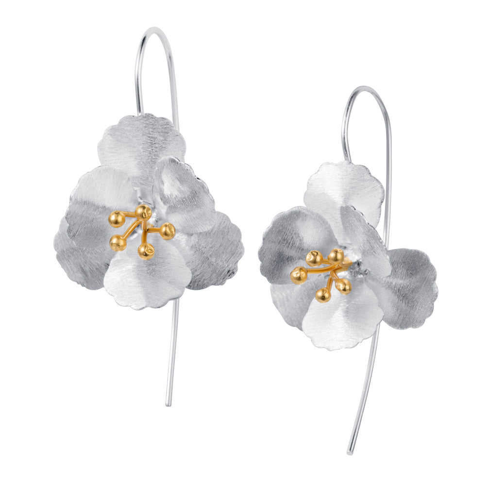 Silver & Gold Flower Earrings