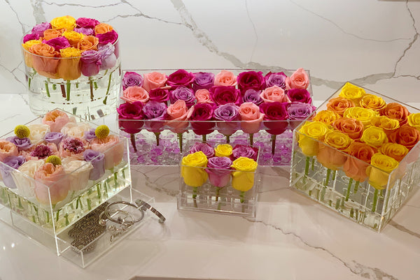 rose box flower arrangements forever roses that last for years for Mother's Day gifts