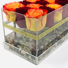 thanksgiving centerpiece forever roses that last for years orange roses