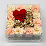 White, peach and gold preserved roses thats last for years