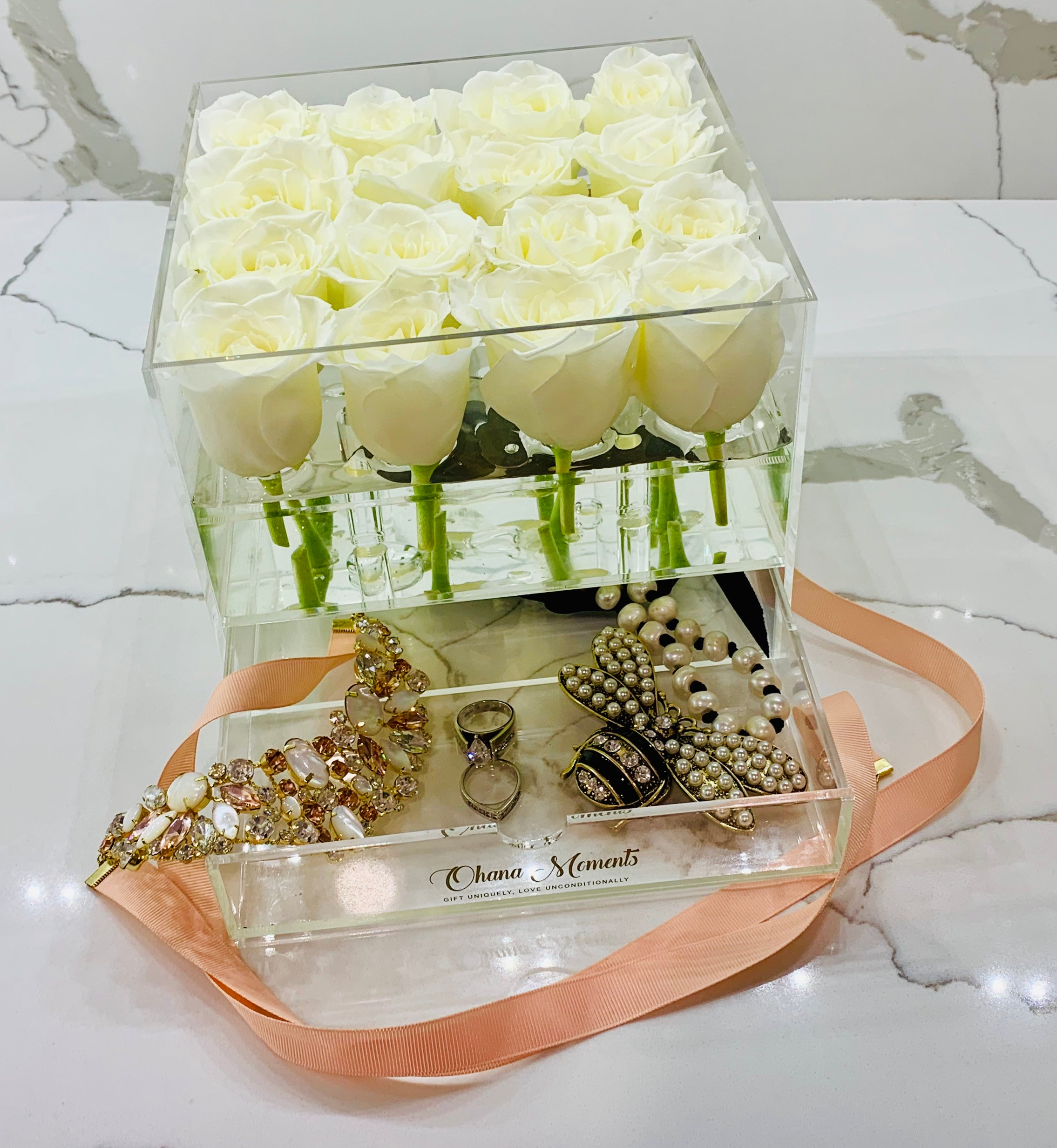 BUILD YOUR OWN FRESH ROSE BOX: Elle Box - Solid