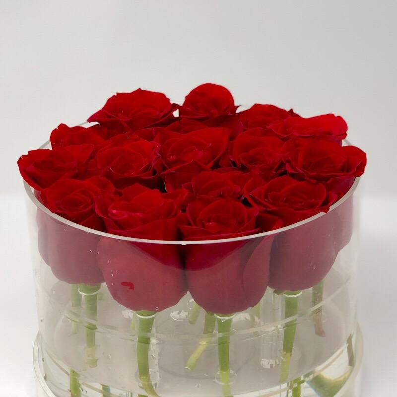 Modern Rose Box with Preserved long last lasting roses that last for years with red roses