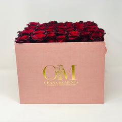 large rose box hat box with Forever Roses that last for years