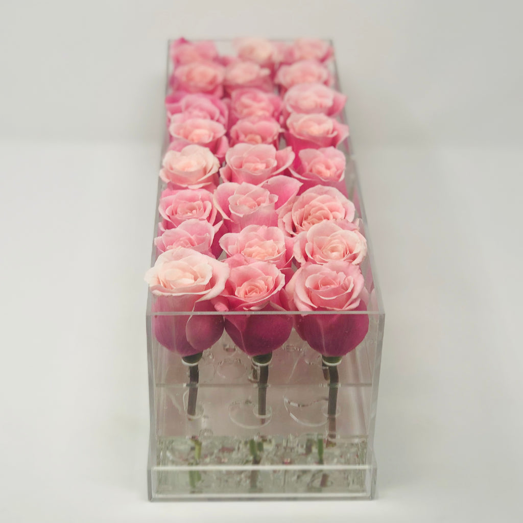 The Classic Light Pink Rose Box - Large
