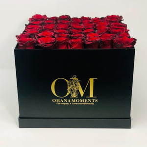 The Mia Forever Rose Box - Large - Solid (36-42 roses)