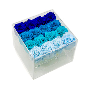 Hot Blue Summer Forever Rose Box - Medium