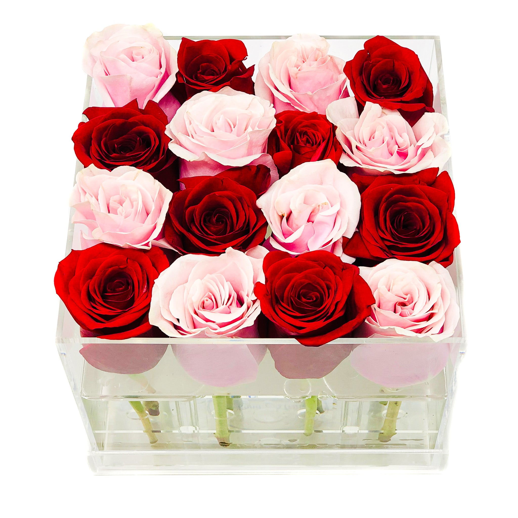 BUILD YOUR OWN FRESH ROSE BOX: Elle Box - Checkered