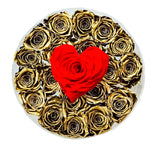 Golden Roses for a Golden Heart Forever Rose Box - Large