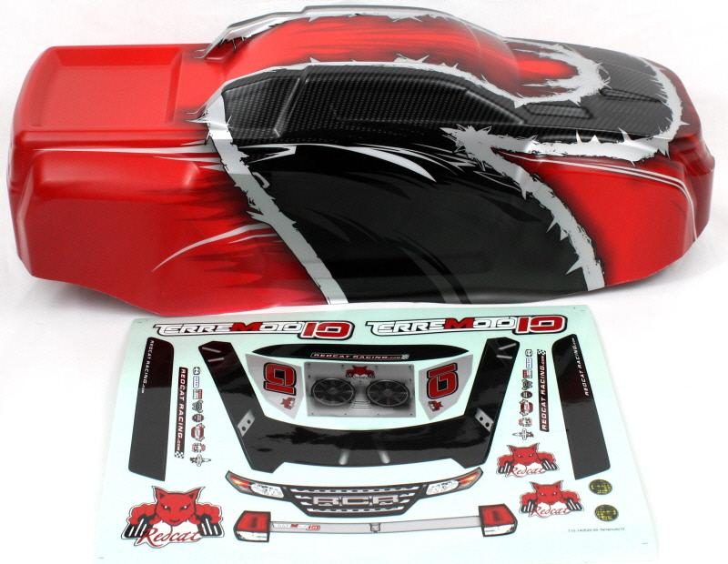 Redcat Racing BS910-015T-R T10 Truck Body Red BS910-015T-R - RedcatRacing.Toys