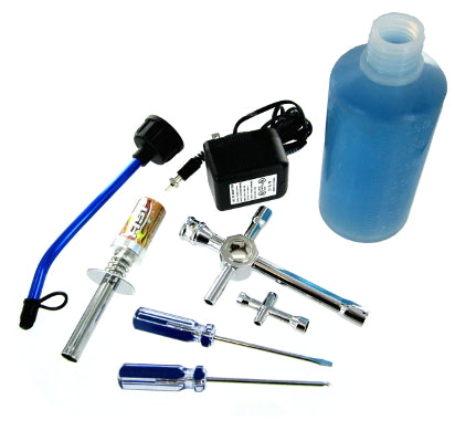 Redcat Racing Starter Kit: Tools, Fuel Bottle, Rechargeable Glow Plug Ignitor W/ Charger 80142A | Redcat Racing