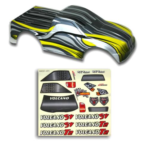 Redcat Racing 88024SY 1/10 Truck Body Silver and Yellow  88024SY | Redcat Racing