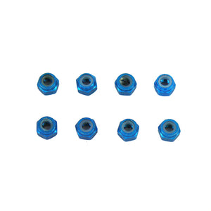Redcat Racing Aluminum Nylon Locknut (6pcs)(M3)(blue)(Same as 122048)  02191B | RedcatRacing.Toys