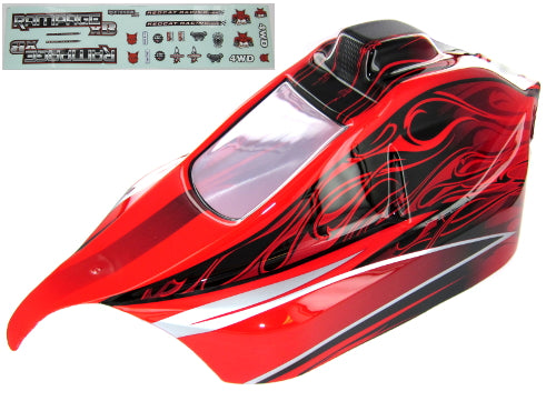 Redcat Racing 07192-R 1/5 Rampage XB Body, Red - RedcatRacing.Toys