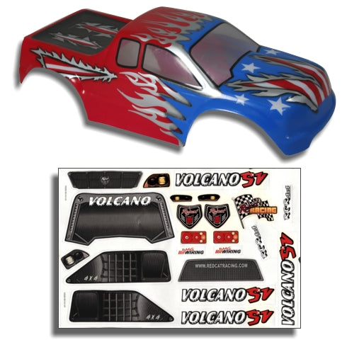 Redcat Racing 88019RWB 1/10 Truck Body Red, White, and Blue  88019RWB | Redcat Racing