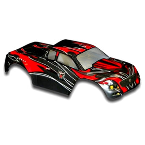 Redcat Racing 88030 1/10 Truck Body, Red and Black  88030 | Redcat Racing