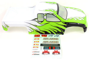 Redcat Racing 86300 1/8 Truck Body White/Green/Black Flame | Redcat Racing