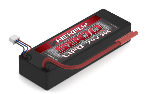 Redcat Racing LIPO Battery , 5800mAh 30c  7.4V  with Banana HX-580030C-BV2 | Redcat Racing