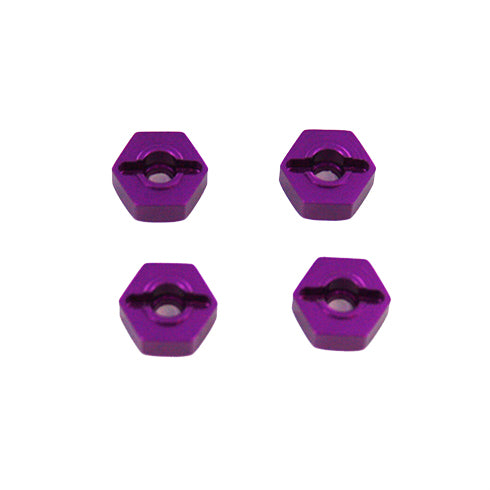 Redcat Racing Purple Aluminum Wheel Hex, 12mm (4pcs) 02134P | Redcat Racing