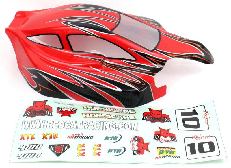 Redcat Racing 81357 1/8 Buggy Body Red and Black HURRICANE 81357 | Redcat Racing