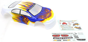 Redcat Racing 1/10 200mm Onroad Car Body White Orange and Blue 01018 - RedcatRacing.Toys