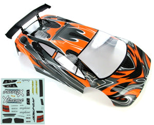 Redcat Racing 10030-1 1/10 Road Car Body, Orange and Black 10030-1 | Redcat Racing