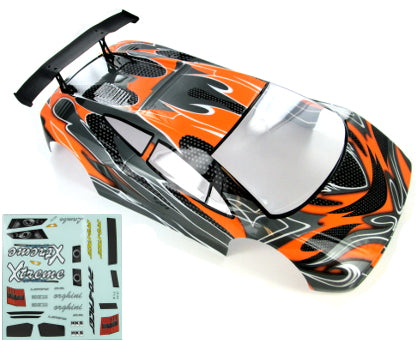Redcat Racing 10030-1 1/10 Road Car Body, Orange and Black 10030-1